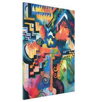 Toile Auguste Macke - hommage à l'art moderne abstrait