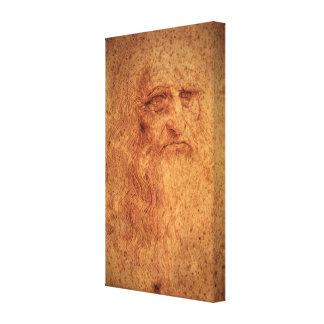 Toile Autoportrait d'art de Renaissance par Leonardo da