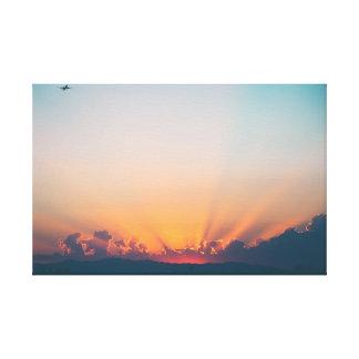 Toile Avions du ciel   du lever de soleil  