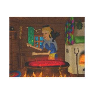 Toile Baba Yaga - conte de fées