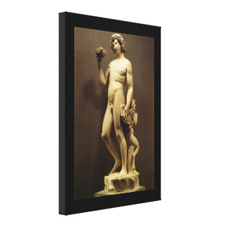 Toile Bacchus vintage de statue de la Renaissance par