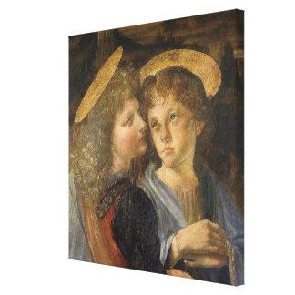 Toile Baptême des anges du Christ par Leonardo da Vinci
