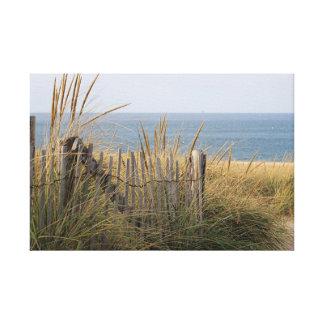 Toile Barrière de plage dans la dune de sable