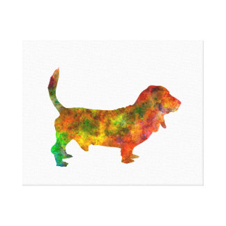 Toile Basset Hound 01 in watercolor 2