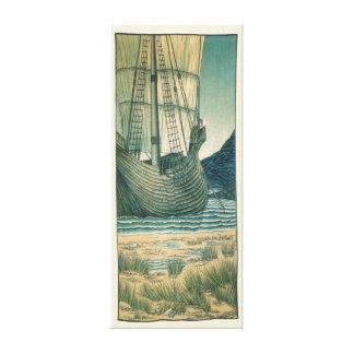 Toile Bateau de navigation de Saint Graal dans l'océan
