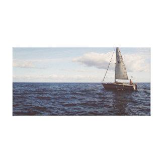 Toile Bateau de navigation sur l'océan du ciel | de