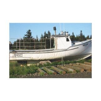 Toile Bateau de pêche de la Nouvelle-Écosse