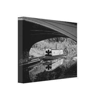 Toile Bateau sur le canal du Pays Noir, Dudley,