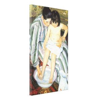 Toile Bath de l'enfant par l'impressionisme de cru de