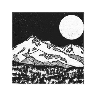 Toile Bâti Shasta noir et blanc