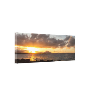 Toile Beau coucher du soleil dans les Caraïbe
