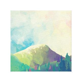 Toile Beau paysage de forêt - art d'aquarelle