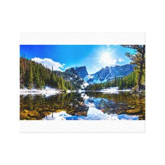Toile Beau paysage de montagne de Lakeside