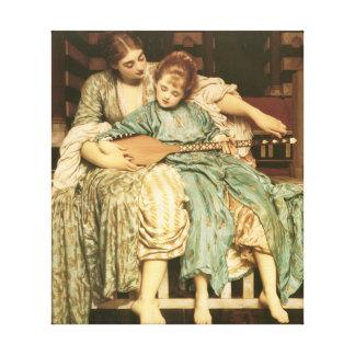 Toile Beaux-arts de Frederic Leighton de leçon de