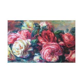 Toile Beaux-arts jetés de Renoir de roses