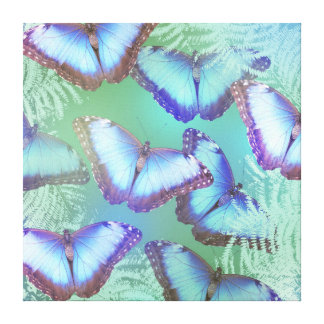 Toile Beaux papillons lumineux