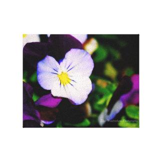 Toile Belle fleur vibrante