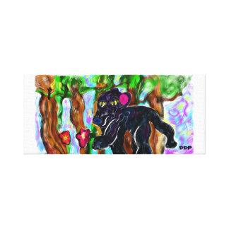 Toile belle jungle de panthère noire