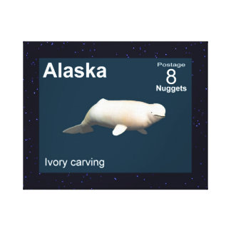 Toile Beluga en ivoire - affranchissement de l'Alaska