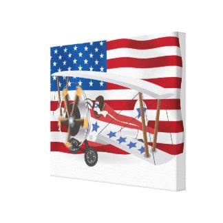 Toile biplans Etats-Unis