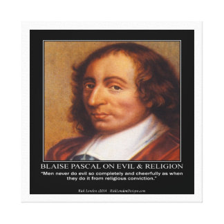 Toile Blaise Pascal et copie mauvaise religieuse de