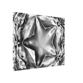 Toile blanche noire brillante élégante d'étoile de