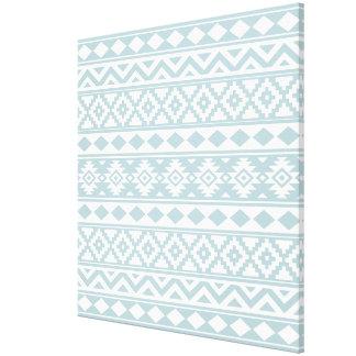 Toile Bleu aztèque et blanc d'oeufs de canard de Ptn