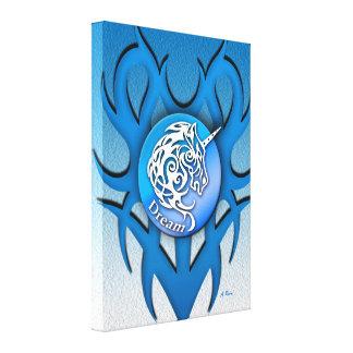 Toile Bleu (rêveur) de licorne