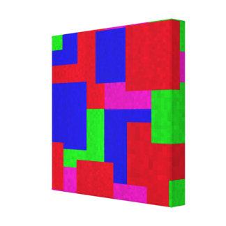 Toile Blocs colorés par mosaïque abstraite,