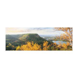 """Toile Bluff et panorama 23.5x8 .75"""" de bouleau"""