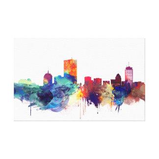Toile Boston, paysage urbain d'aquarelle du