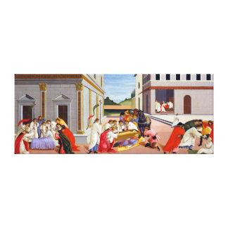 Toile Botticelli trois miracles de saint Zenobius