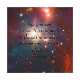 Toile Bouddha votre amour et affection