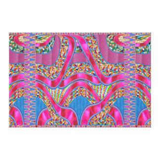 Toile Cadeau graphique de spectre de rubans de bijoux de