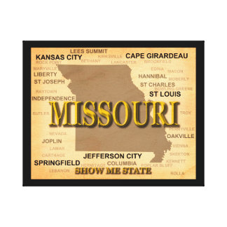 Toile Carte antique du Missouri