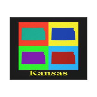 Toile Carte colorée d'art de bruit du Kansas