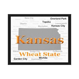 Toile Carte de fierté d'état du Kansas