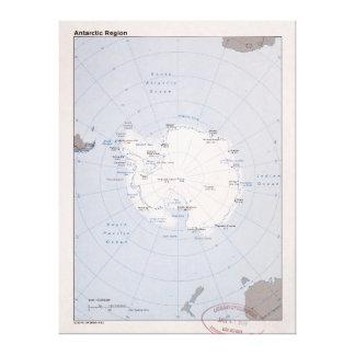 Toile Carte de Region antarctique (1982)