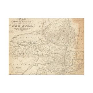 Toile Carte des chemins de fer de l'état de New York