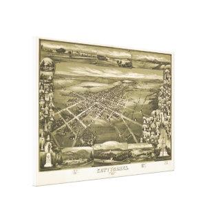 Toile Carte imagée vintage de la PA de Gettysburg (1888)