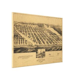 Toile Carte imagée vintage du parc NJ (1881) d'Asbury