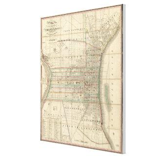 Toile Carte vintage de Philadelphie Pennsylvanie (1830)