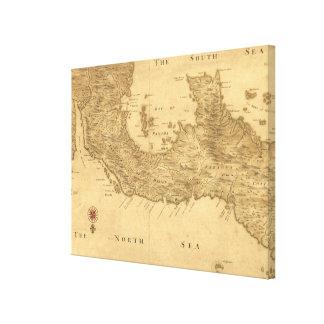 Toile Carte vintage du Panama (1800)