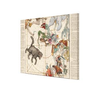 Toile Carte vintage du Pôle Nord