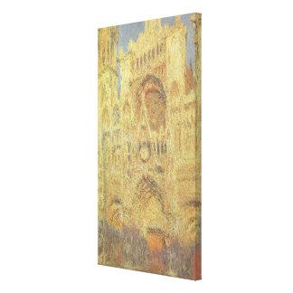 Toile Cathédrale de Rouen, coucher du soleil par Claude