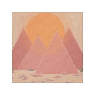 Toile Chaîne de montagne dans le paysage rocheux dans la