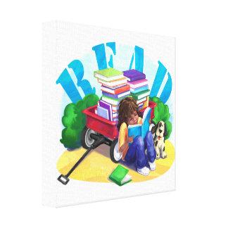 Toile Chariot de livre