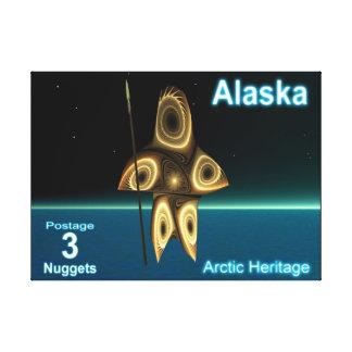 Toile Chasseur d'Inuit de fractale - affranchissement de