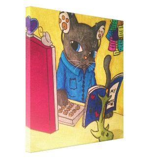 Toile Chat d'auteur de ragondin du Maine par les chats