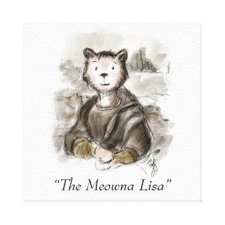 Toile Chat de Meowna Lisa de la Renaissance par Leonardo